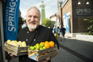 (Oct. 9, 2015): Celebrity Chef Art Smith poses with fresh Florida produce Oct. 9, 2015 to announce his rustic-chic farm-to-fork restaurant, Homecoming: Florida Kitchen and Southern Shine, opening summer 2016 at Disney Springs in Lake Buena Vista, Fla. Homecoming will feature traditional Southern favorites with sophisticated, chef-inspired creations paying homage to Florida's bygone era. Disney Springs is the shopping, dining and entertainment district at Walt Disney World Resort. (Ryan Wendler, photographer)