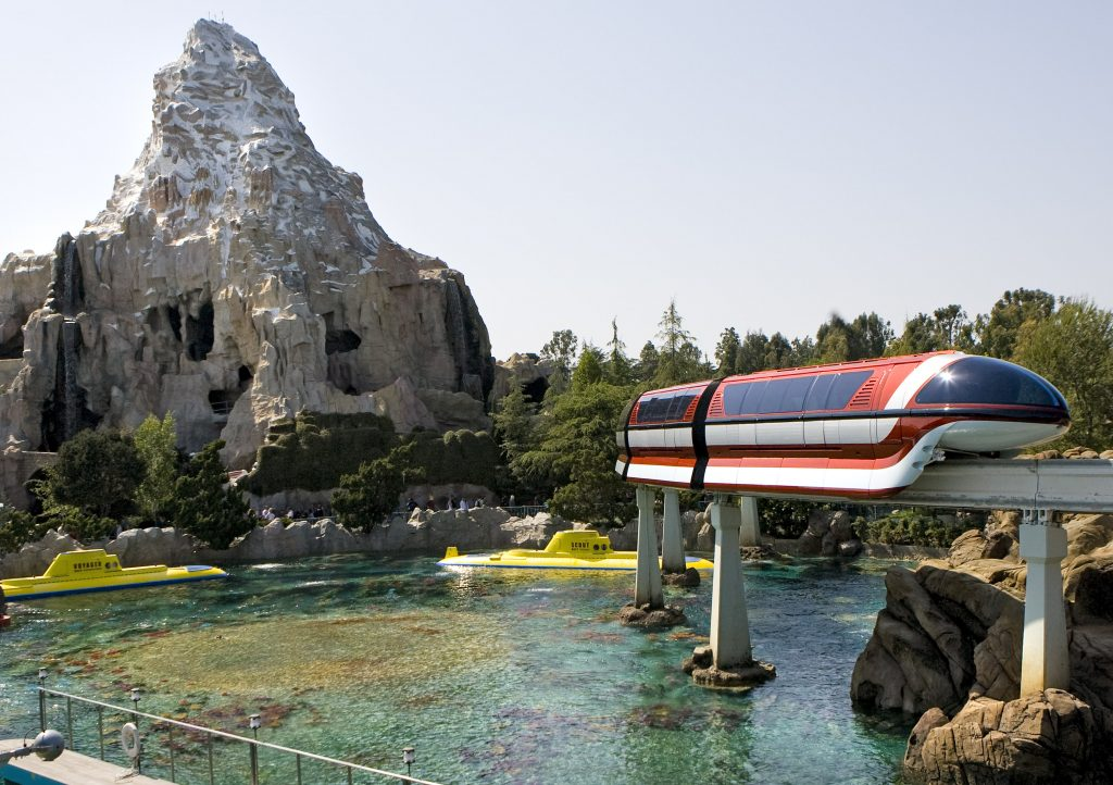 HISTORIC TRIO -- Three of the most popular attractions at Disneyland - the Disneyland Monorail, Matterhorn Bobsleds and Submarine Voyage - all debuted on the same day, June 14, 1959. (Paul Hiffmeyer/Disneyland)
