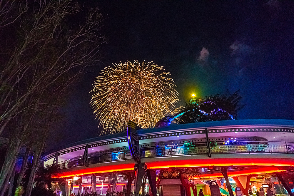 Fireworks from Tomorrowland